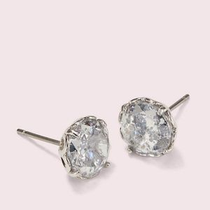 Kate spade that sparkle round earrings silver